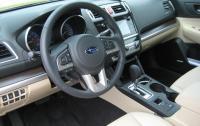 2015 Subaru Legacy - steering wheel and instrument panel.JPG