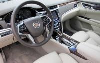 2013 Cadillac XTS - steering wheel and instrument panel.JPG