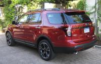 2013 Ford Explorer Sport - rear 3/4 view.JPG