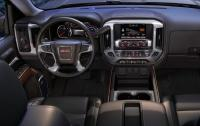 2014 GMC Sierra SLT - steering wheel and instrument panel.jpg