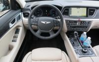 2015 Hyundai Genesis - steering wheel and instrument panel.JPG