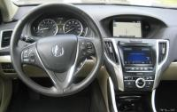 2015 Acura TLX - steering wheel and centre stack.JPG