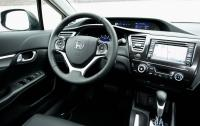 2013 Honda Civic sedan - steering wheel and instrument panel.jpg