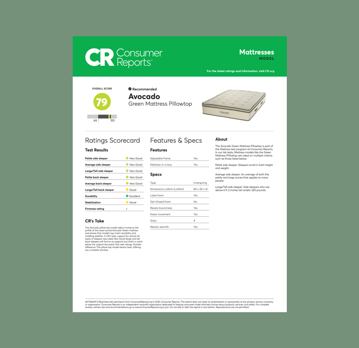 Avocado Green Pillowtop Mattress Consumer Reports 2020 Rating Review Best Innerspring Hybrid Mattress Organic Certified