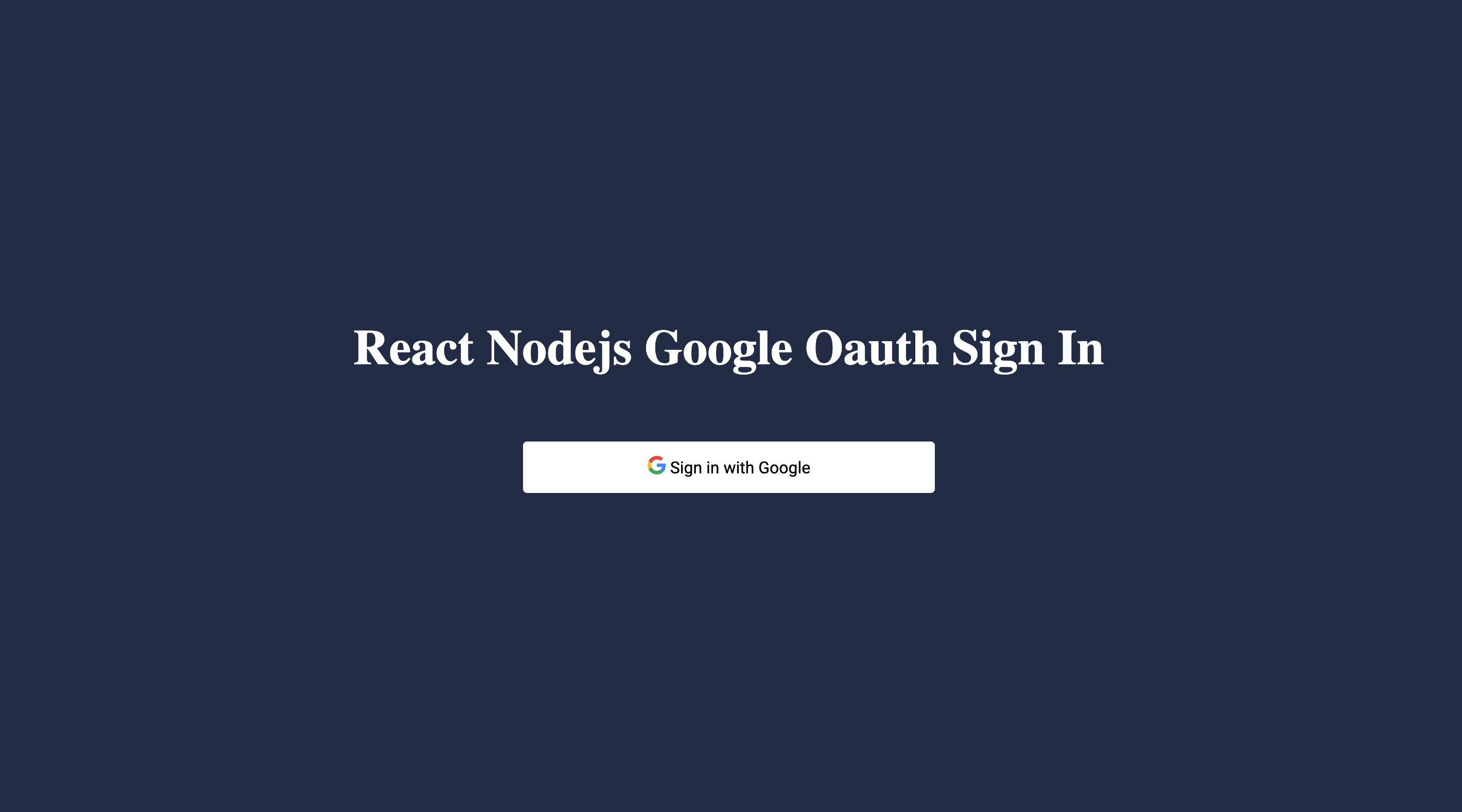 How to implement Google oauth in React and Node/express