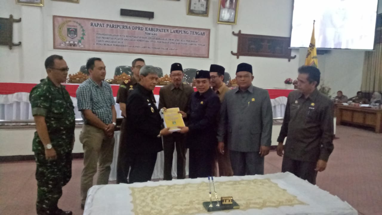DPRD Lamteng Gelar Paripurna APBD Perubahan 2018
