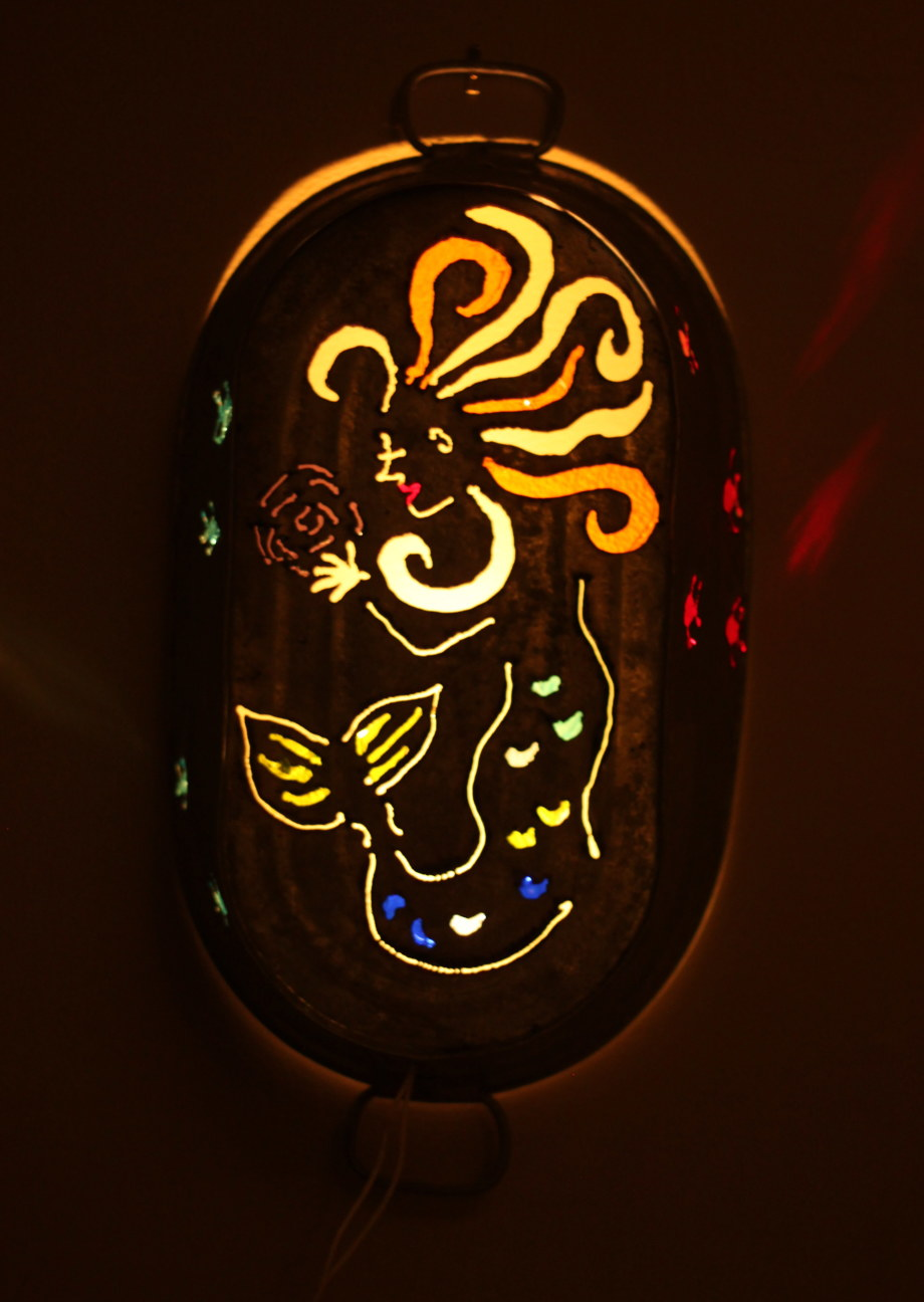 Mermaid sconce