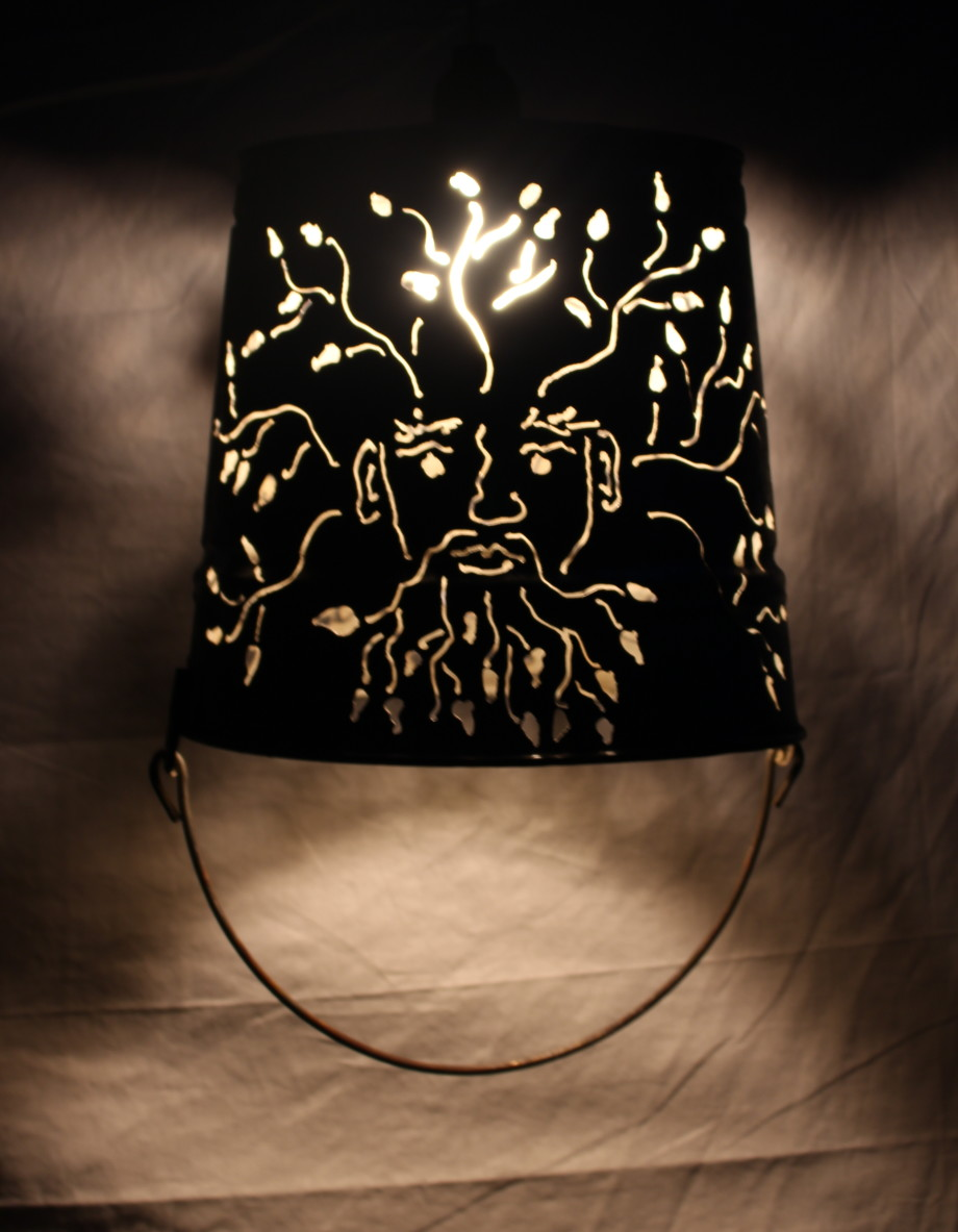 Green Man lampshade