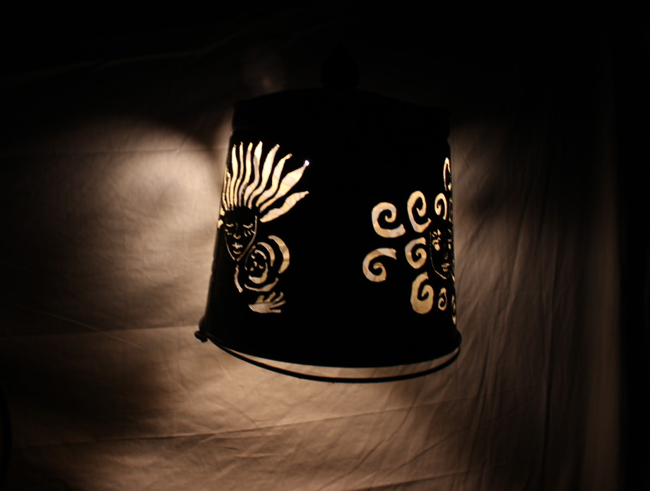 Maiden Mother Crone lampshade