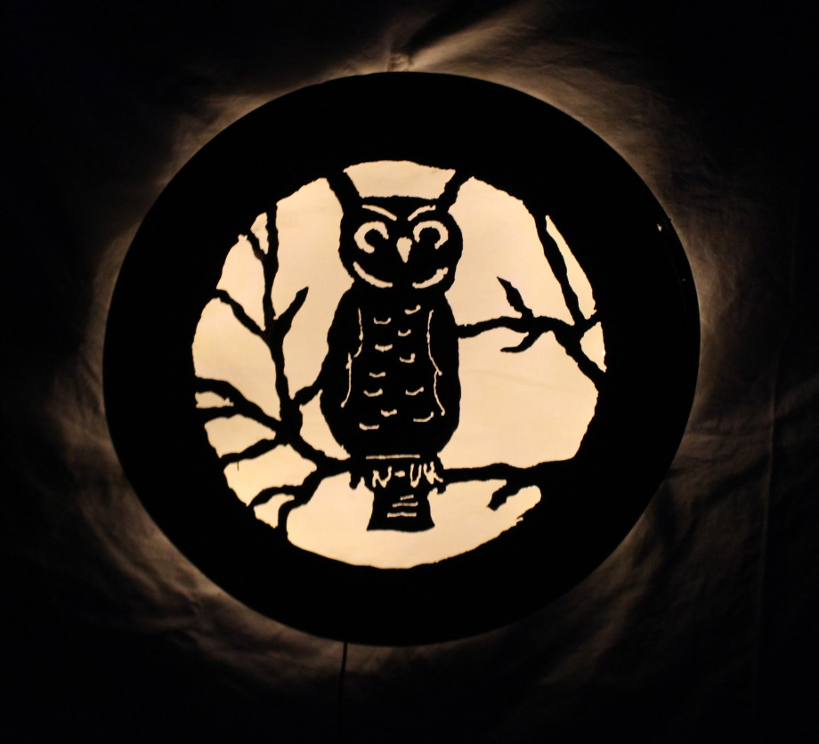 Horned Owl luminary 2
