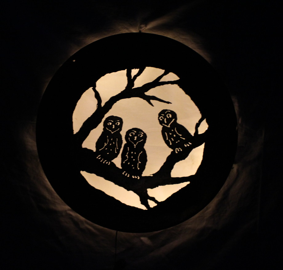 Owl Babies luminary