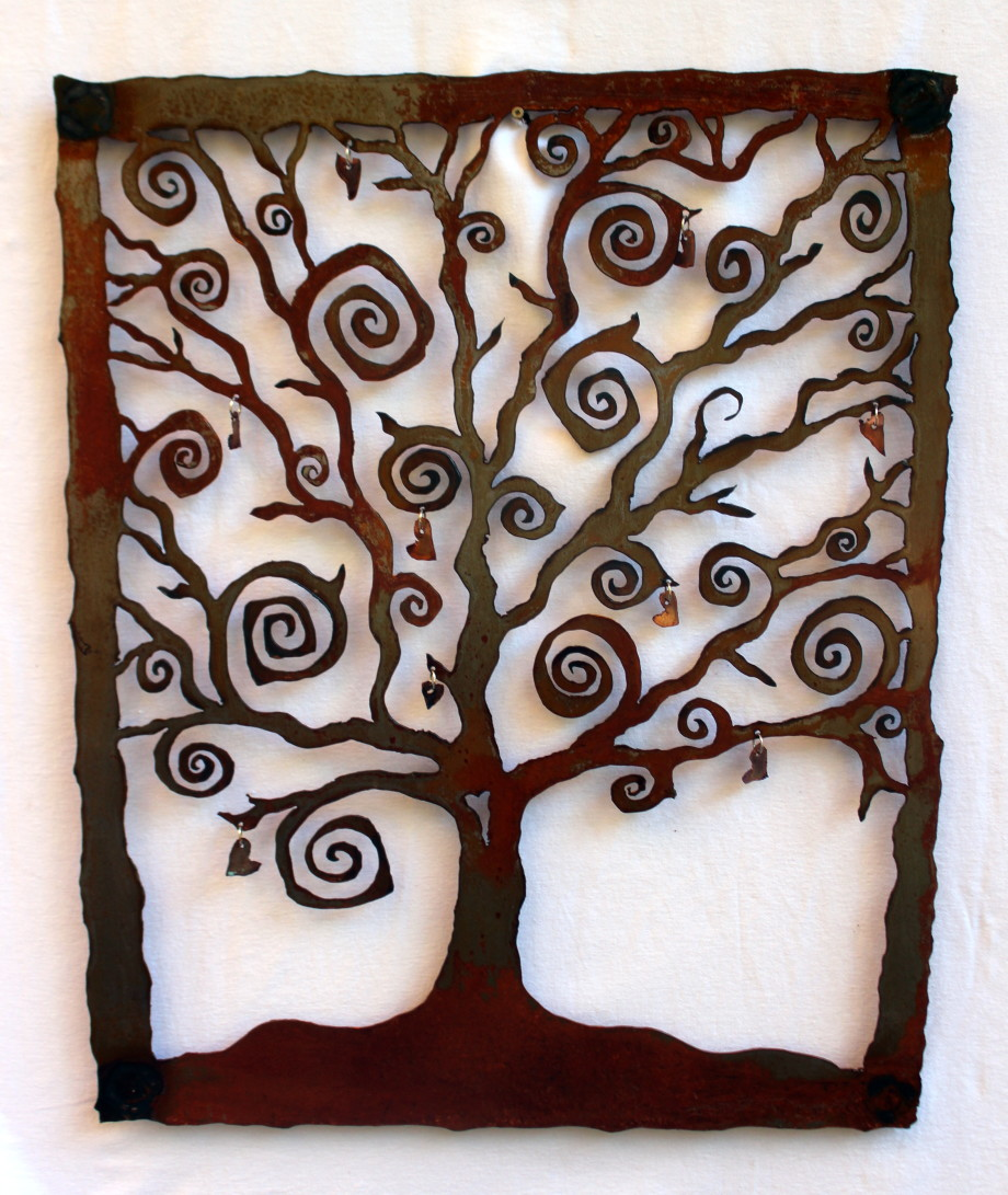Copper Hearts Tree