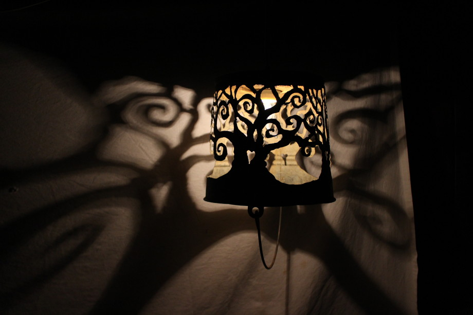 Spiral Trees lampshade