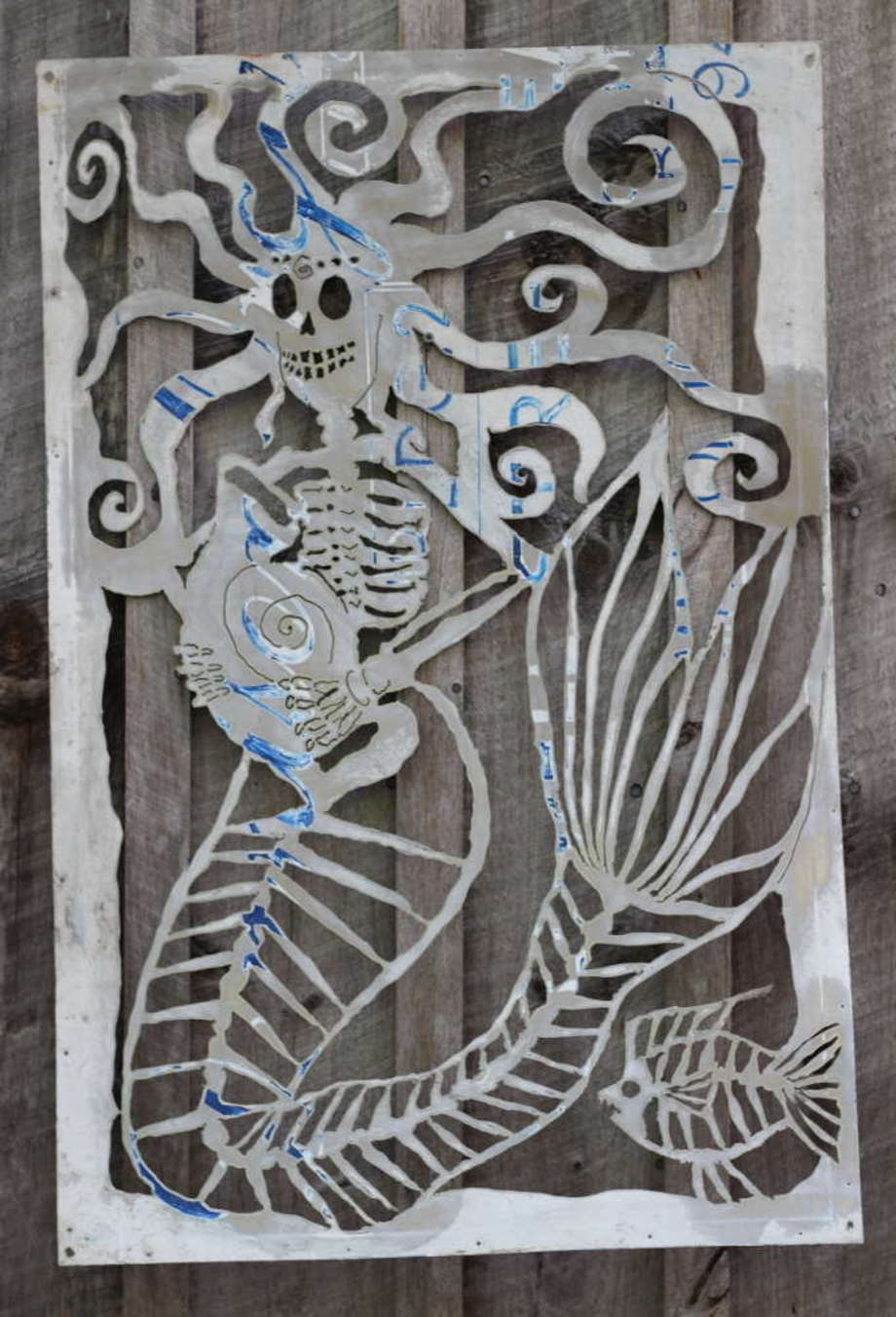 Skelly Mermaid sign