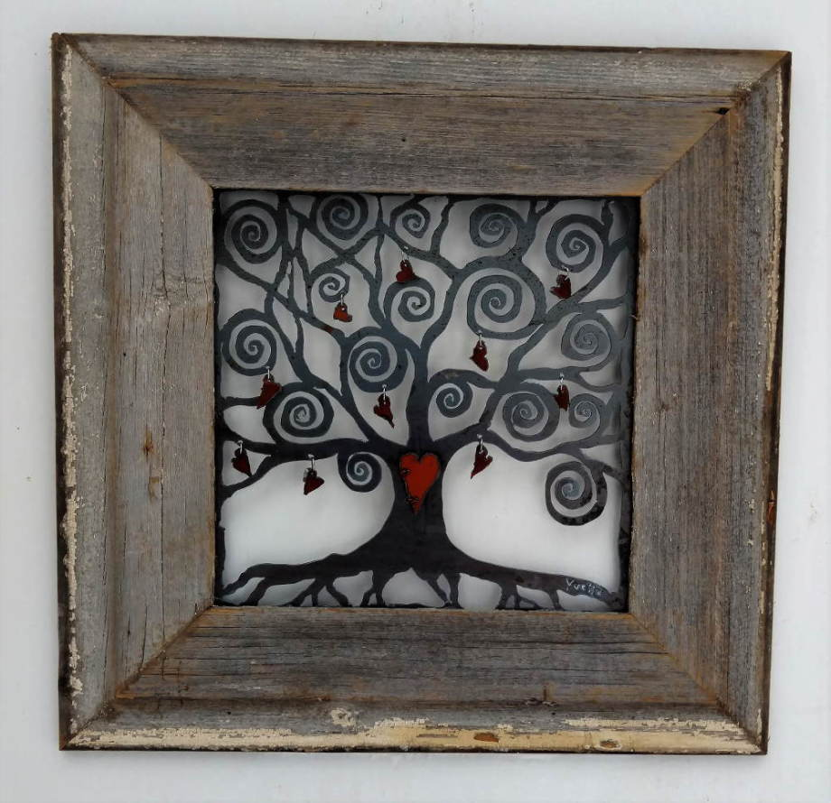Key to my Heart Tree in Barnwood