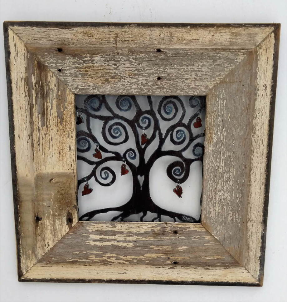 Heart Tree in barnwood