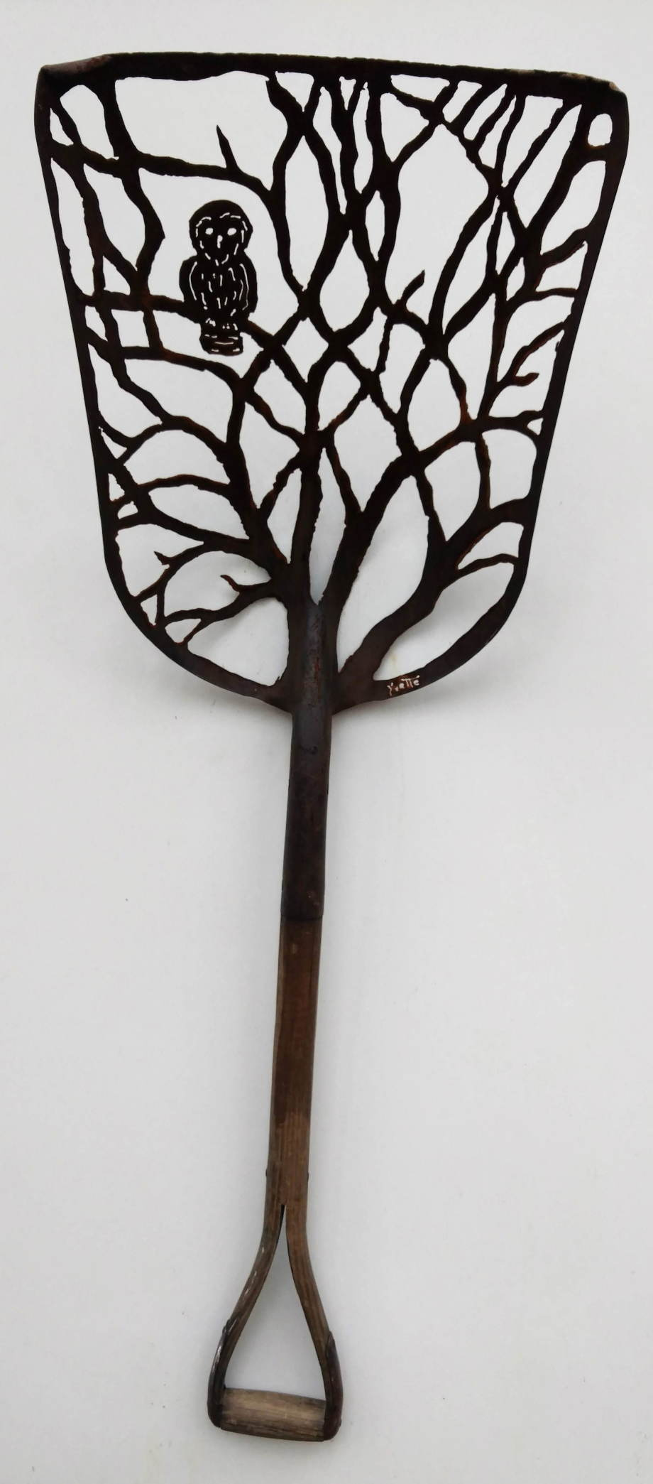 Owl Tree Antique shovel
