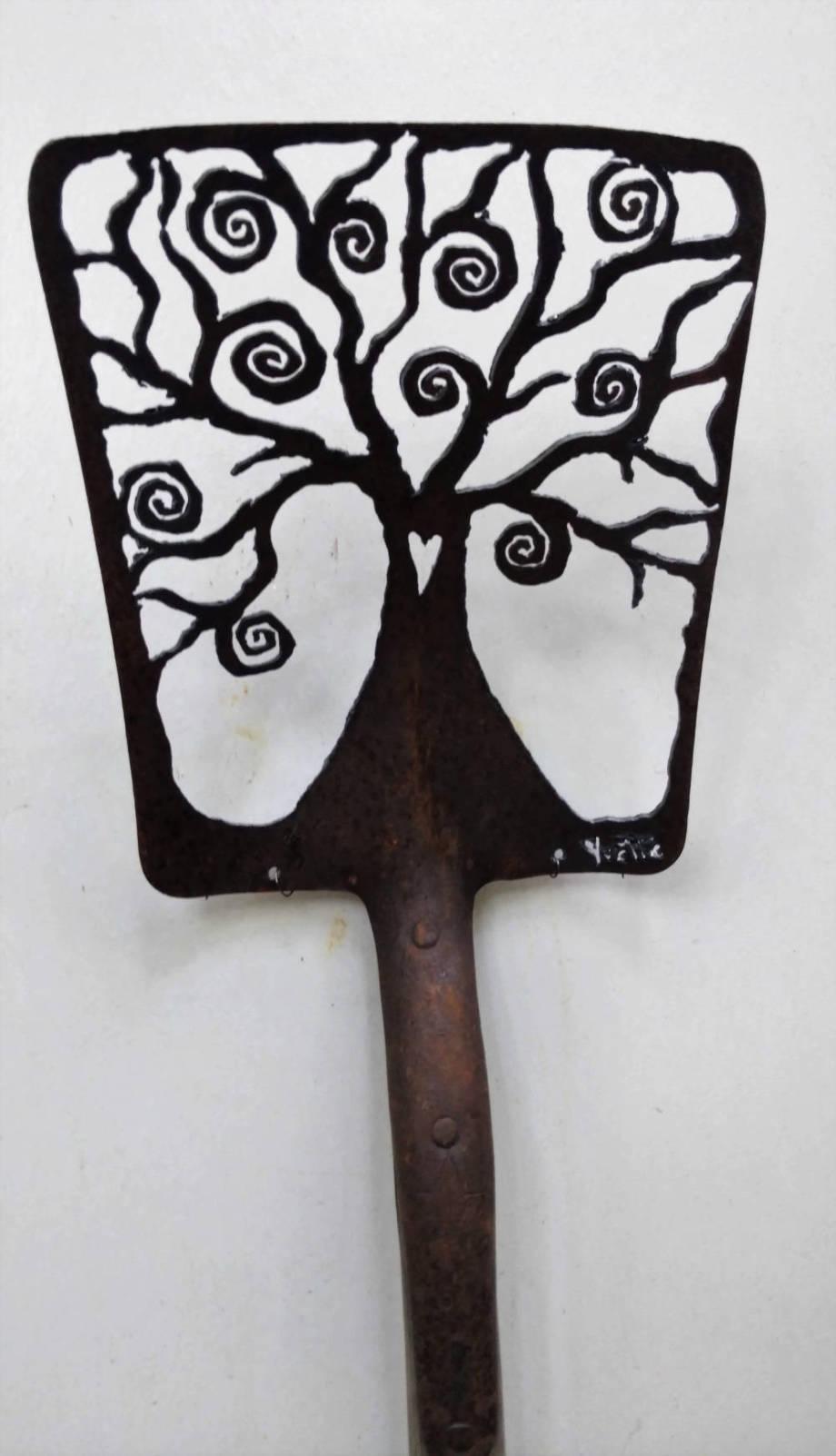 Antique Spiral Tree shovel