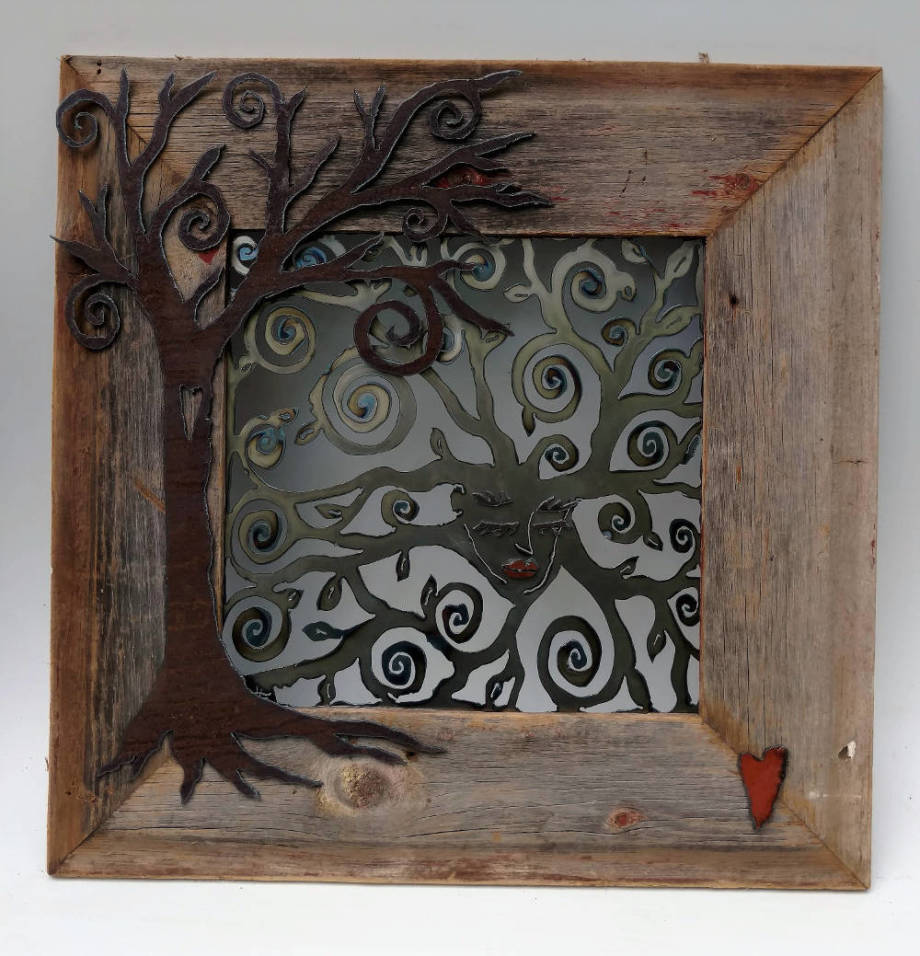 Mother Nature in barn-wood frame