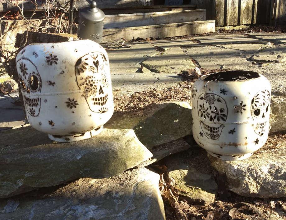 Sugar Skull Fire Bowls