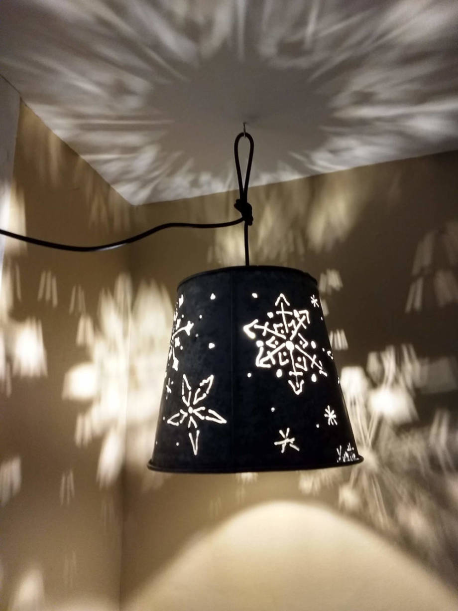 Snowflakes Hanging Lamp