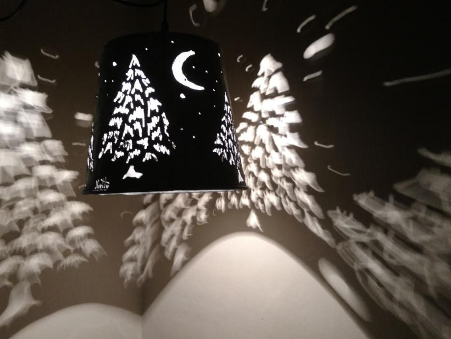 Moonlit Pines Hanging Lamp
