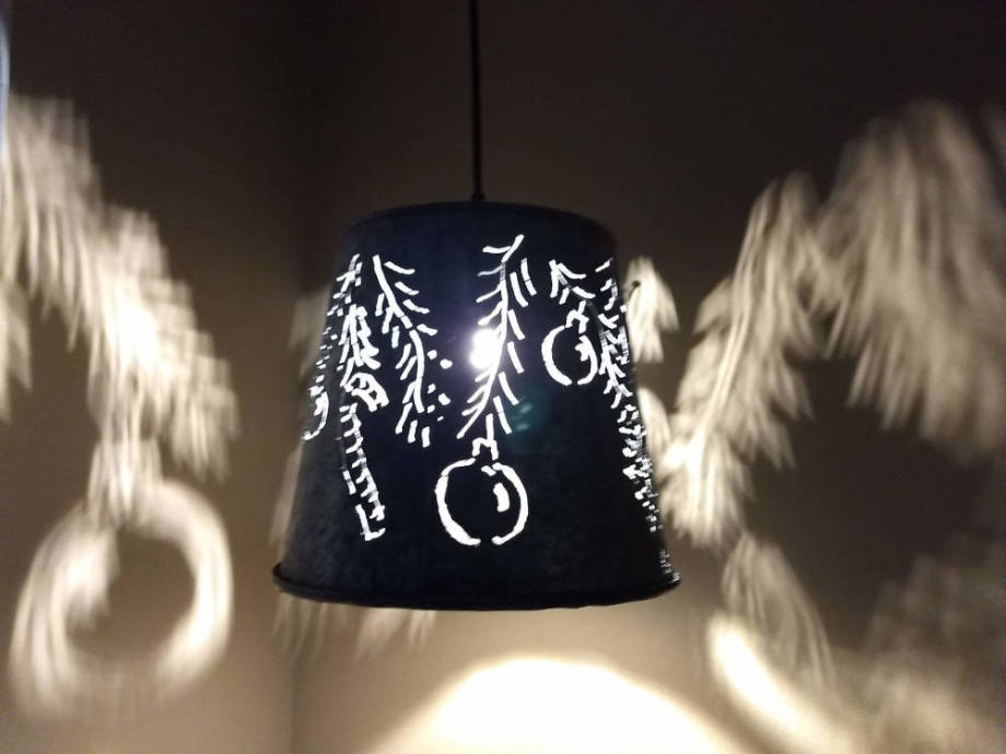 Holiday Ornaments Hanging Lamp