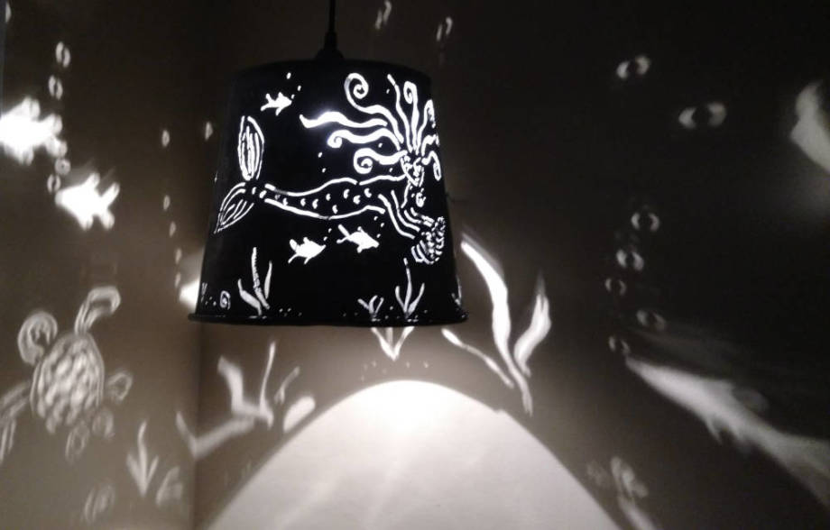 Mermaid Hanging Lamp