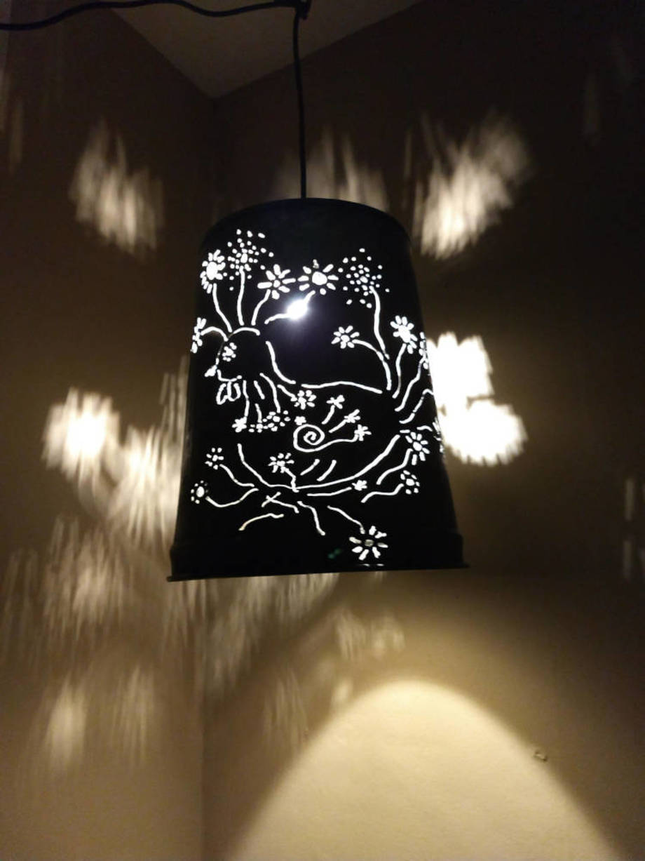 Blooming Chickens Hanging Lamp