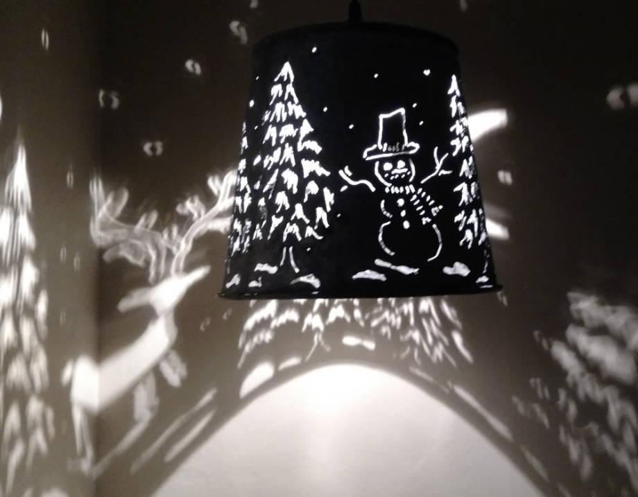 Snowman Hanging Lamp