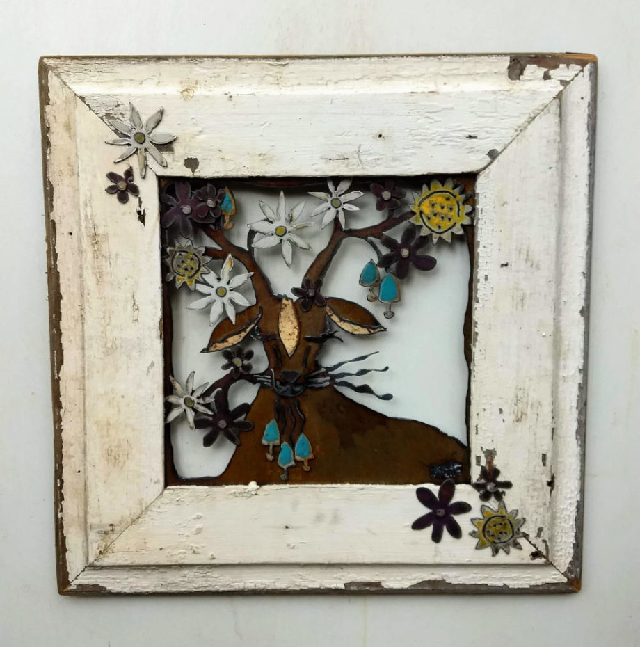 Blooming Goat - framed