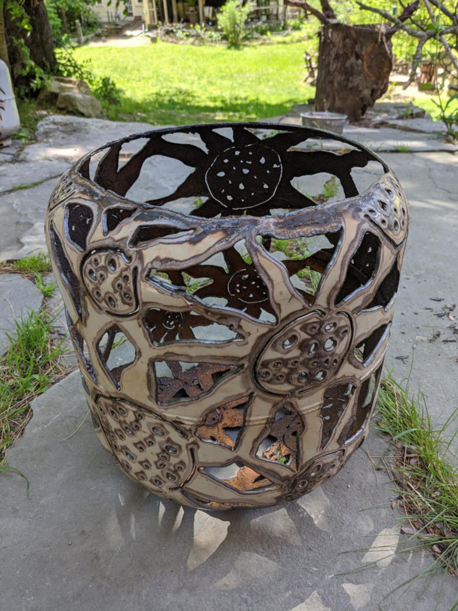 Sunflowers Firebowl