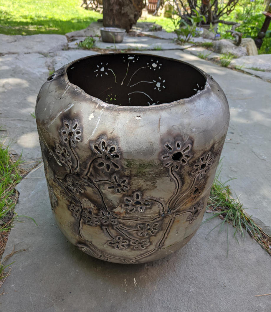 Blooming Chickens Firebowl