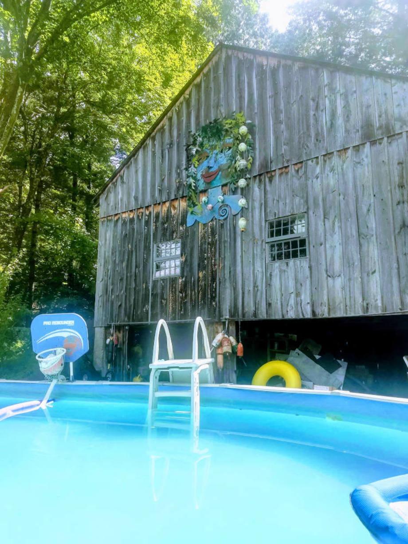 Pool Mermaid - from afar
