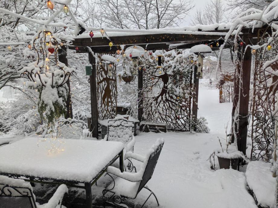 Entwife patio in Winter