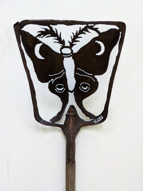 Antique Luna Moth shovel