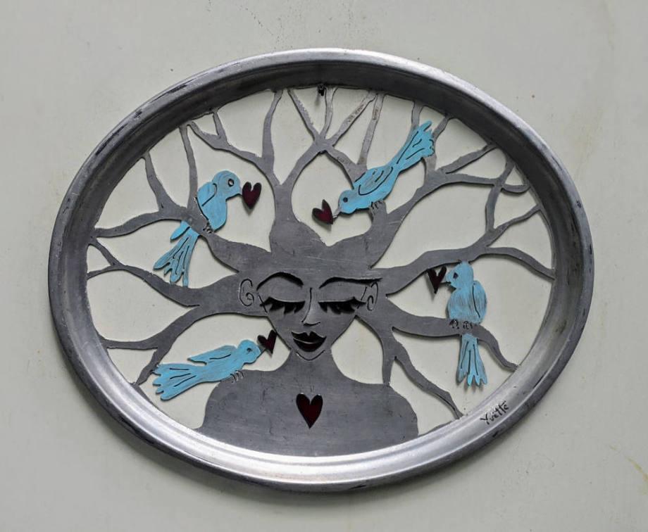 Bird Love tray