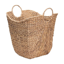 Household Essentials Water Hyacinth Wicker Basket With Handles Bed Bath Beyond