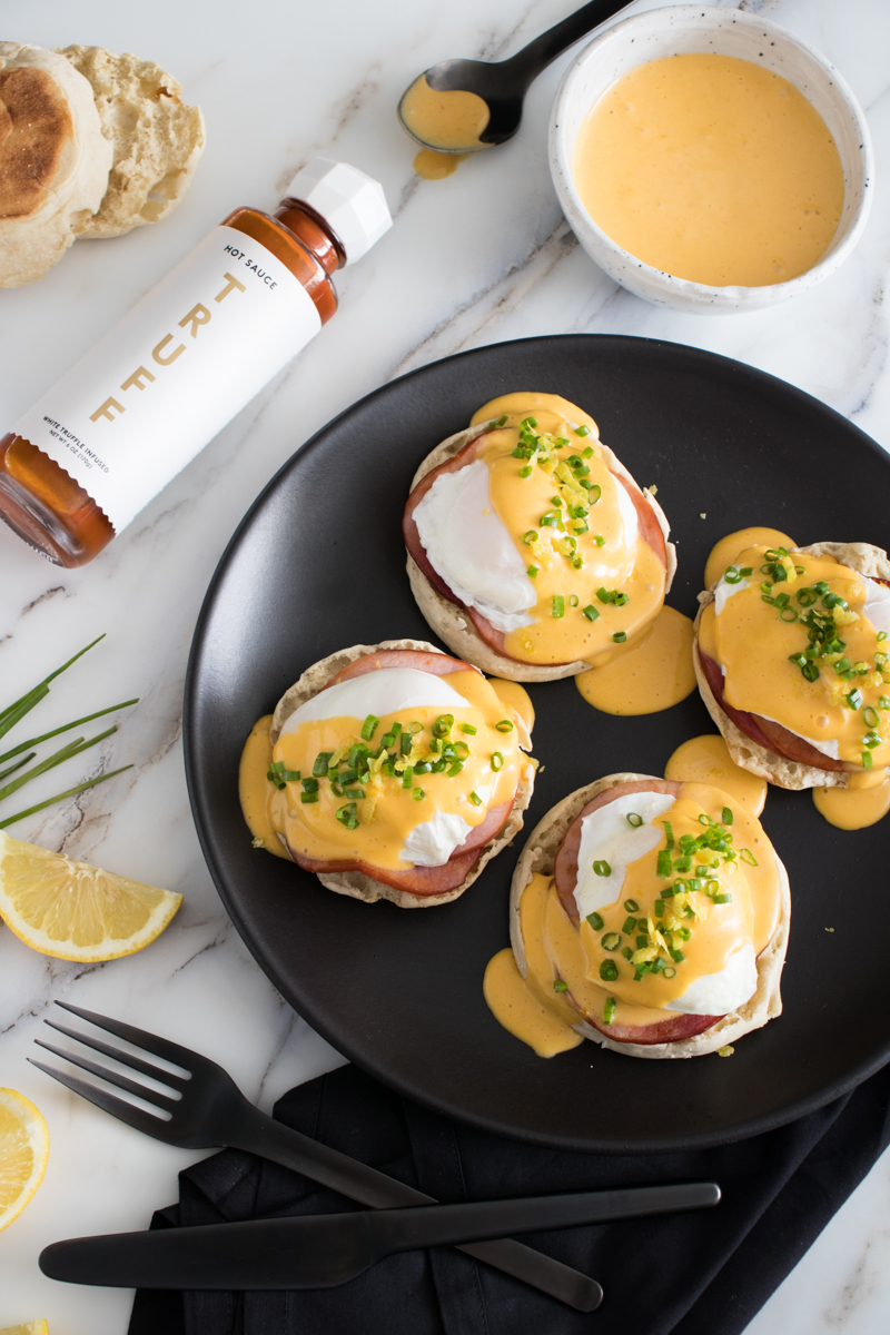 Eggs Benedict with Truffle Hollandaise