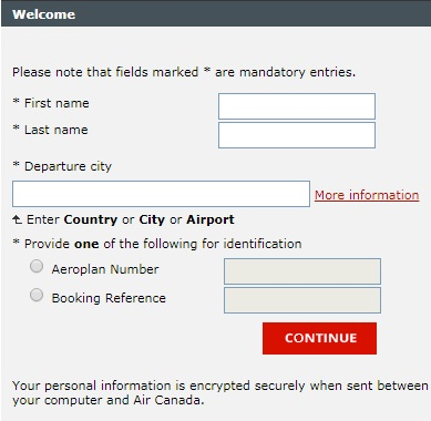 air canada online check in, air canada web check in