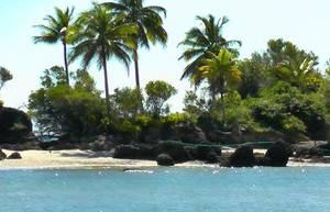 Pretty islands near Itacaré, Bahia.