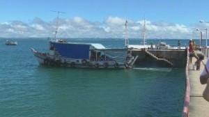 Ferry boat, back to Camamu