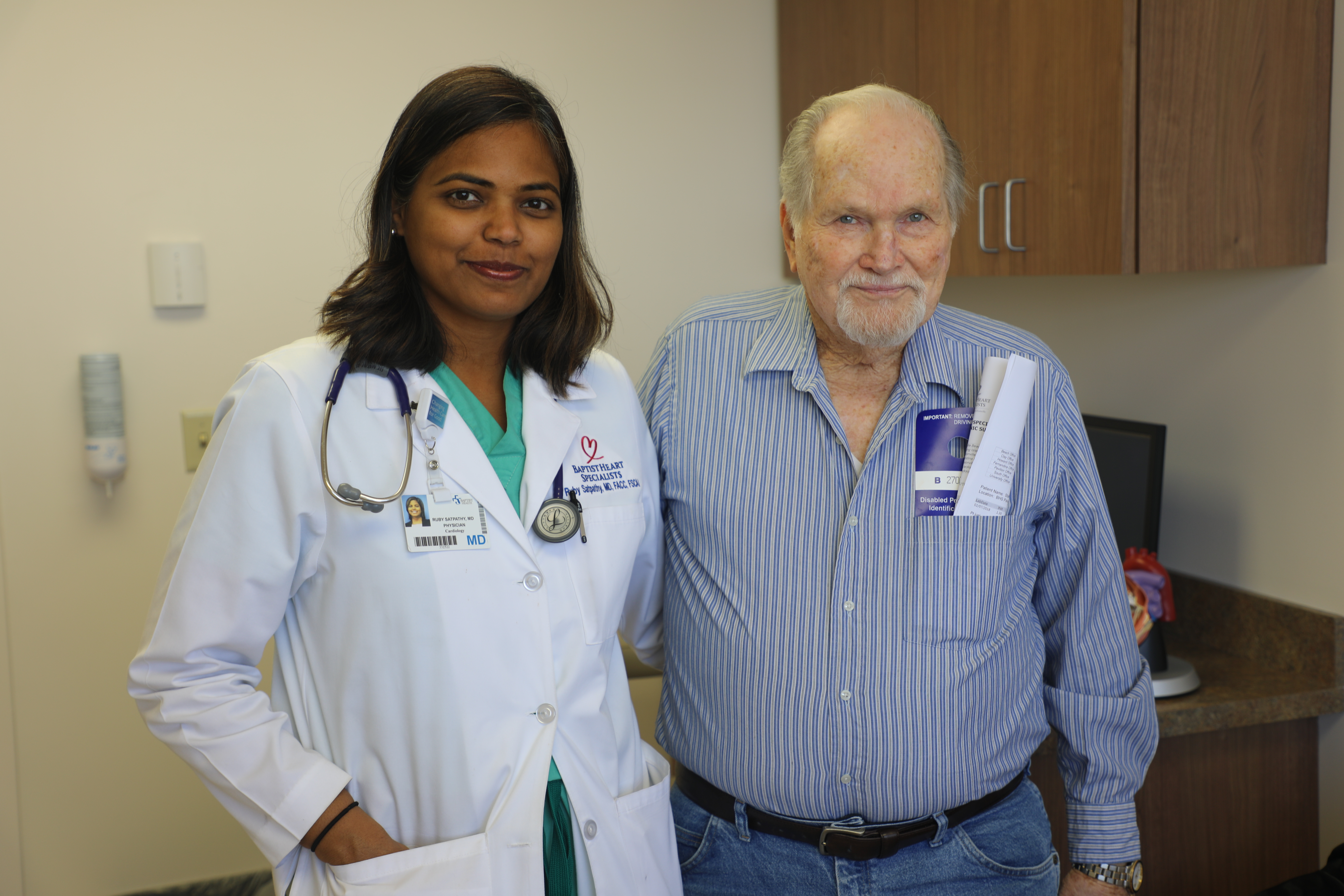 Dr. Satpathy and her patient, Sammie Starling