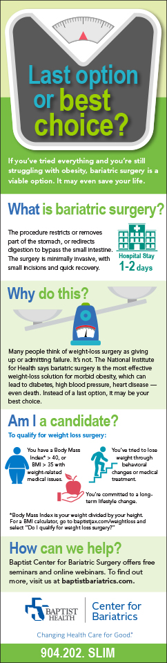 If you've tried everything, bariatric surgery may be a viable option. It could save your life.