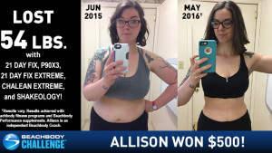 Beachbody Results: Allison Lost 54 Pounds and Won $500