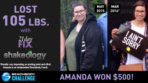 21 Day Fix Results: Amanda Lost Over 100 Pounds!