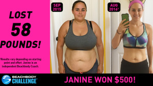 Beachbody Results: Janine Lost 58 Pounds and Won $500!
