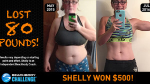 Beachbody Results: Shelly Lost 80 Pounds and Won $500