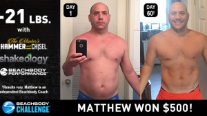 The Master's Hammer and Chisel Results: Matthew Lost 21 Pounds in 60 Days