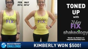21 Day Fix Results: Kimberly Burned Off Belly Fat and Won $500!
